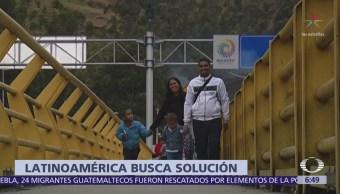 Países latinoamericanos buscan solución al éxodo desde Venezuela