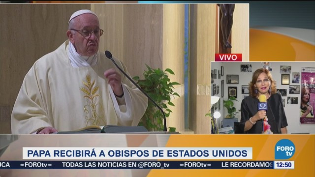 Papa Francisco recibirá a obispos de Estados Unidos