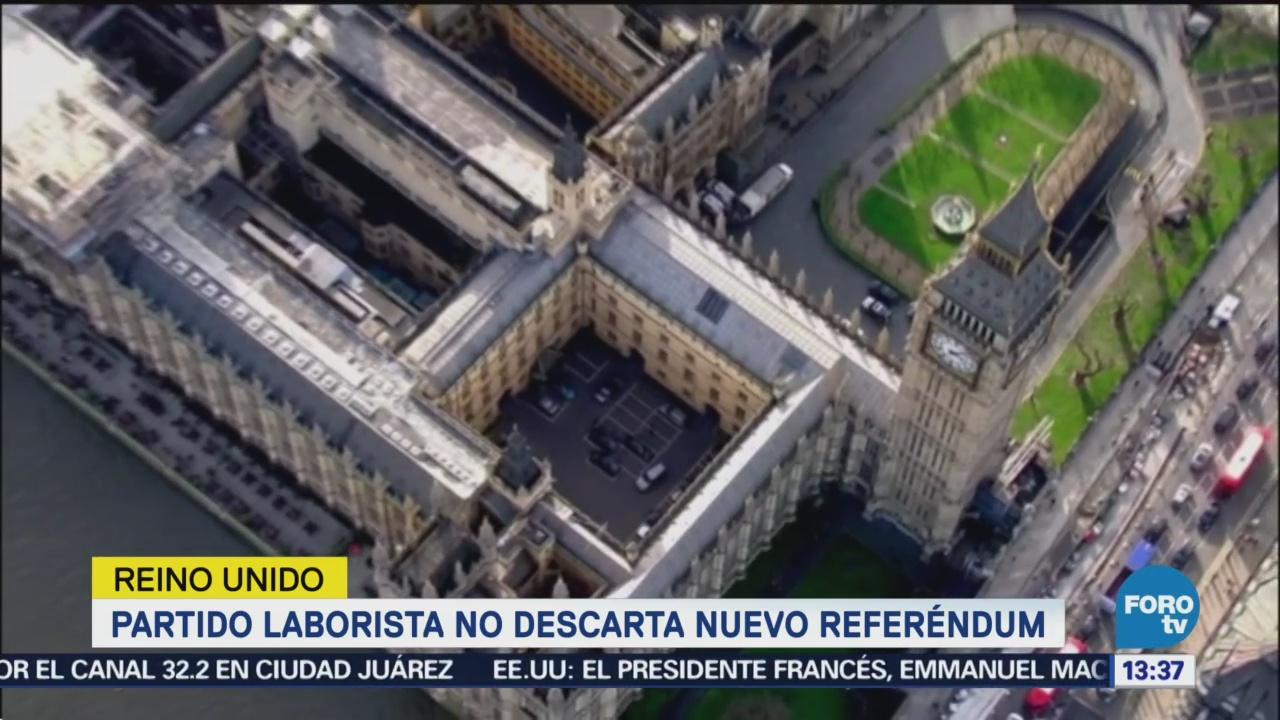 Partido laborista no descartan nuevo referéndum de Brexit