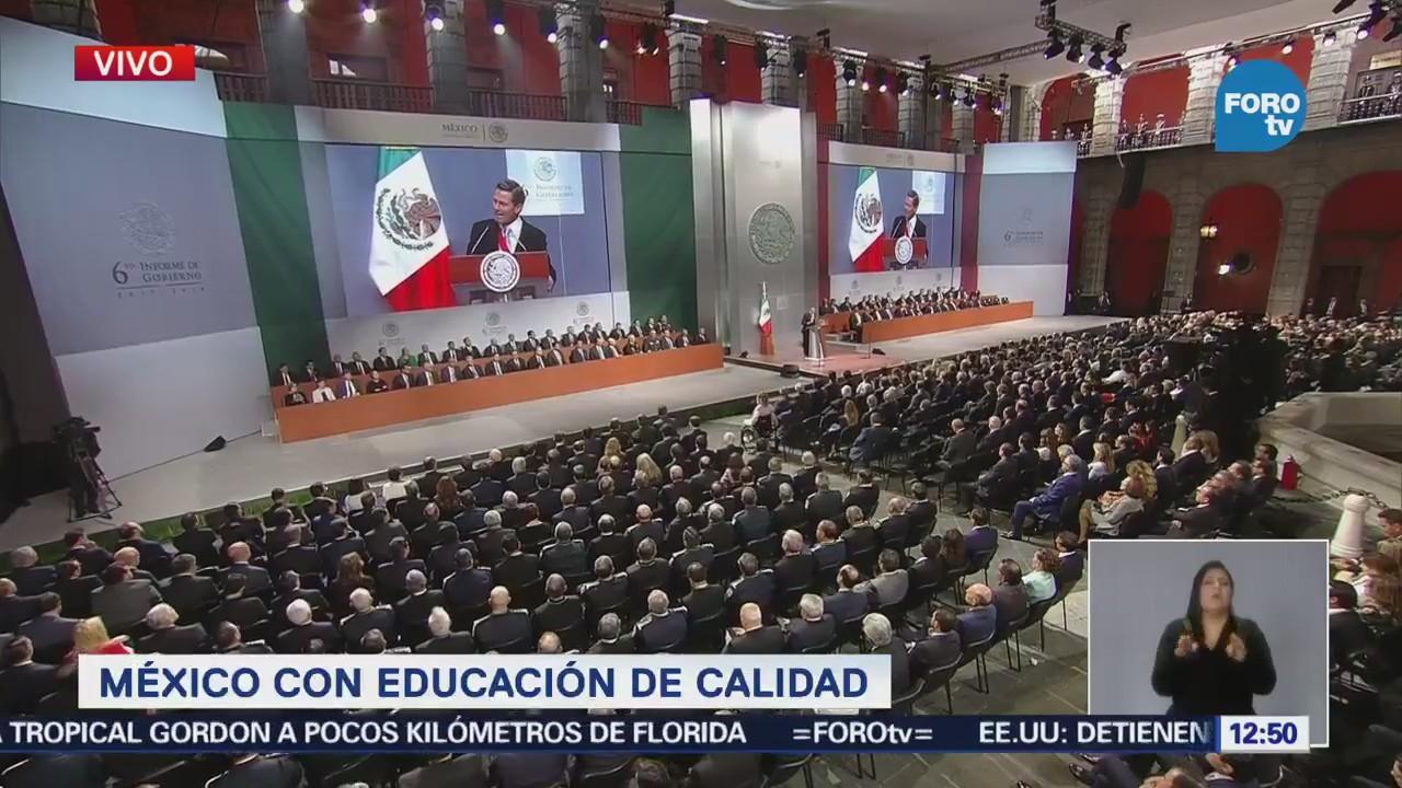 Peña Nieto: Nuevo modelo educativo muestra primeros resultad ...