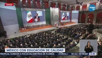 Peña Nieto: Nuevo modelo educativo muestra primeros resultados