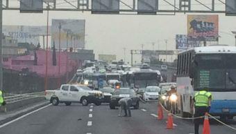 Accidente en la autopista México Pachuca provoca caos vial