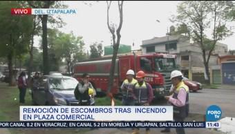 Plaza Zentralia permanece cerrada luego de incendio