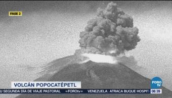 Podría Continuar Actividad Volcán Popocatépetl Fin de Semana