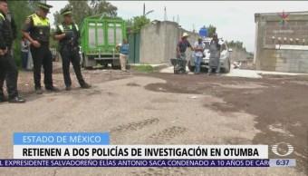 Policías estuvieron a punto de ser linchados en Otumba, Edomex