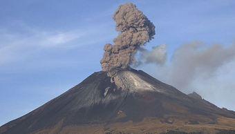 popocatepetl emite exhalacion acompanada ceniza afectaciones tres delegaciones