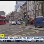 Prevén problemas en aviación si no hay acuerdo de Brexit
