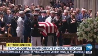 Realizan funeral de John McCain