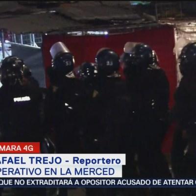Realizan operativo de seguridad en la Merced