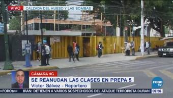 Reanudan actividades en la Prepa 5 tras paro de UNAM