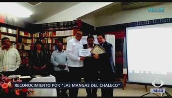 Reconocen labor periodística Santos Briz y Daniel Hernándes