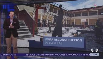 Reconstrucción de escuelas tras sismo 19-S en CDMX en lenta