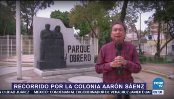 Recorriendo la colonia Aaron Saenz en la Ciudad de México