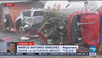 Accidente en la autopista méxico toluca,