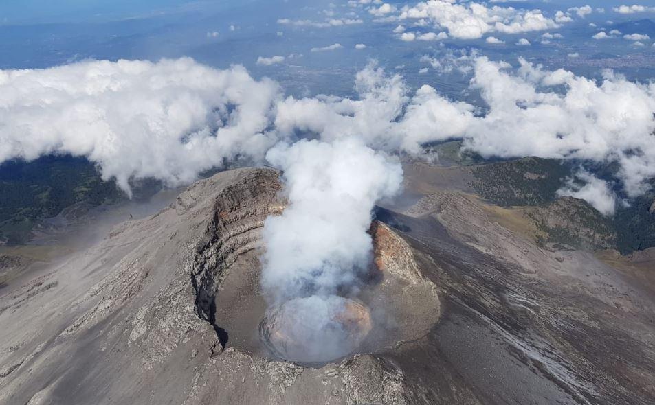 Registran imágenes de explosión del Popocatépetl en ...