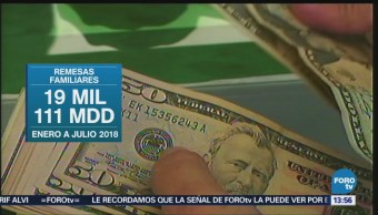 Remesas Familiares Aumentan 10.3% Tasa Anual Banxico