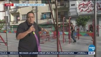 Repor entrevista a transeúntes en Glorieta de Insurgentes