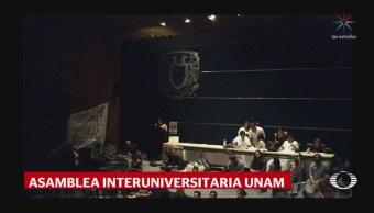Representantes estudiantiles UNAM discuten pliego petitorio