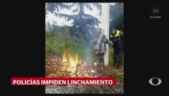 Rescatan a posibles víctimas de linchamiento en Ocoyoacac