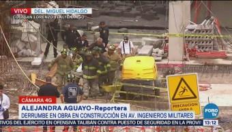 Rescatan a víctima que fue sepultada por losa en avenida Ingenieros Militares