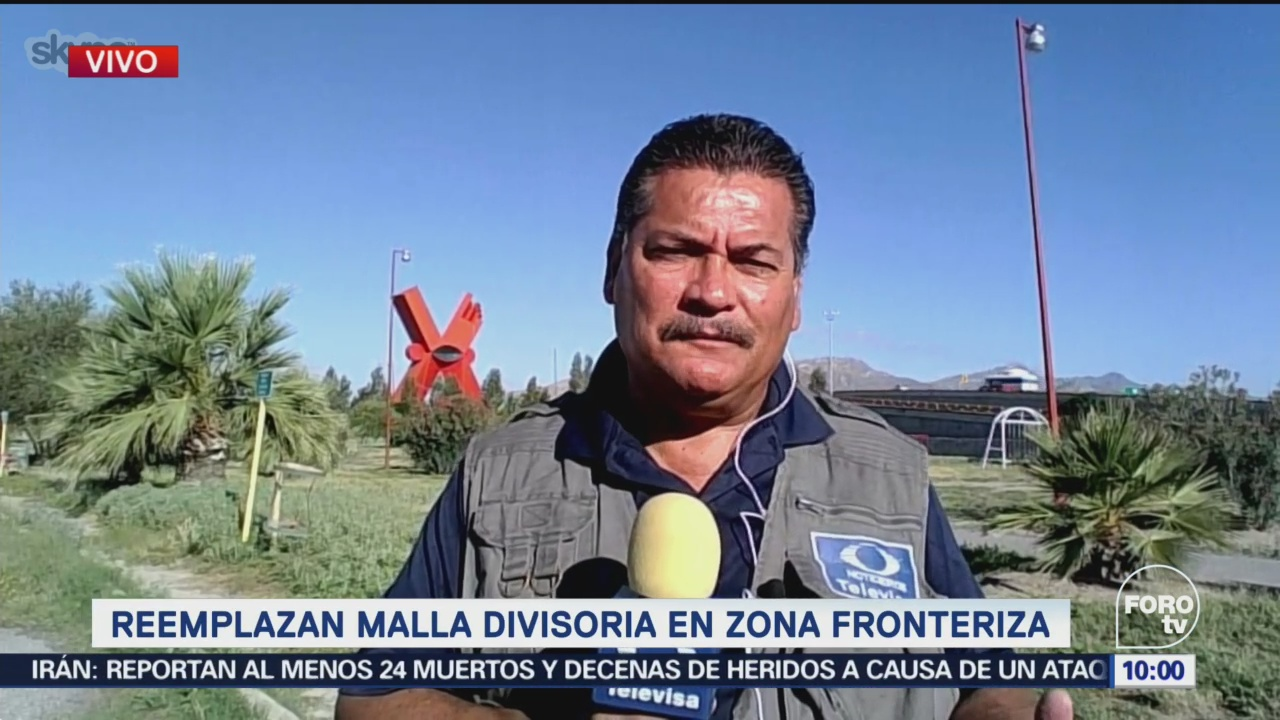 Reemplazan Malla Divisoria Zona Fronteriza Chihuahua