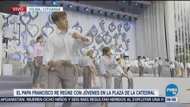 Papa Francisco Se Reúne Jóvenes Vilna, Lituania