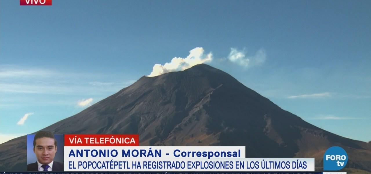 Popocatépetl Registra Explosiones Últimos Días