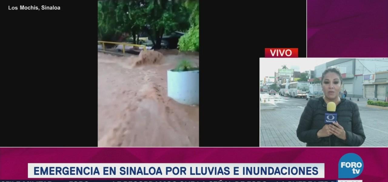 El corresponsal Edgar Molina reporta que el agua comienza abajar en las zonas afectadas por las inundaciones en Sonora