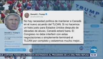 No Hay Necesidad Incluir Canadá Nuevo Pacto Comercial Trump