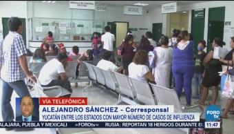 Yucatán, Estado Mayor Número Casos Influenza