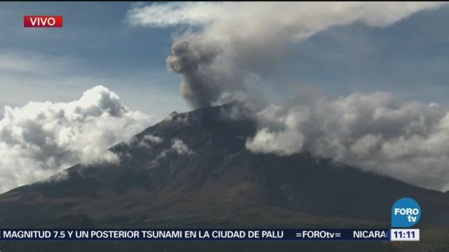 Popocatépetl Presenta Actividad Eruptiva Últimas 24 Horas