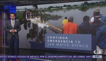 San Mateo Atenco, en emergencia por fisura del río Lerma