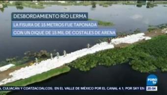 San Mateo Atenco Siguen Los Trabajos De Limpieza Desbordamiento Del Río Lerma