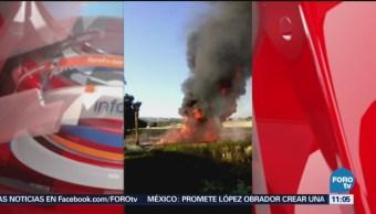 Se incendia ducto de Pemex por toma clandestina en Hidalgo