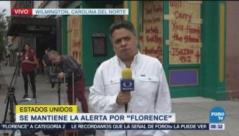 Se mantiene alerta pese a debilitamiento de huracán Florence