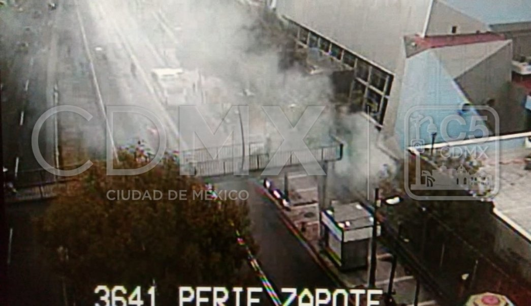 Se registra incendio en la sala Ollin Yoliztli