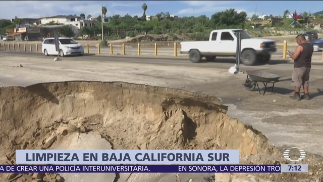 Se registran deslaves por lluvias Los Cabos, Baja California