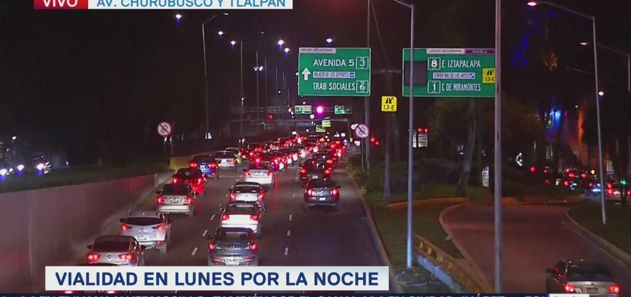 Se reporta trafico complicado en avenida Churubusco