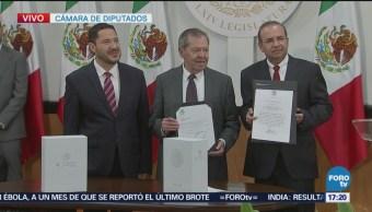 Secretario Gobernación arriba Cámara Diputados entregar VI Informe de Gobierno
