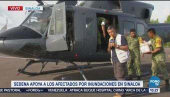 Sedena Apoya Afectados Inundaciones Sinaloa Lluvias