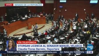 Senado Otorga Licencia Manuel Velasco
