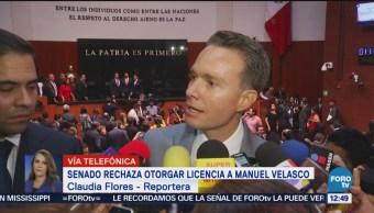 Senado rechaza solicitud de licencia de Manuel Velasco
