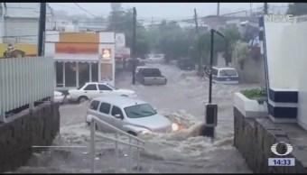 Severas inundaciones en Sinaloa y Sonora
