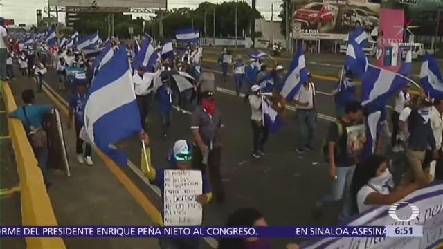 Siguen las manifestaciones contra Ortega en Nicaragua