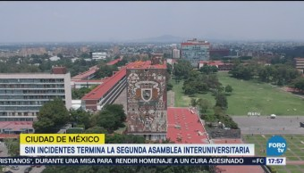 Sin Incidentes Termina Segunda Asamblea Interuniversitaria UNAM