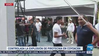 Suspenden festejos religiosos tras explosión de pirotecnia en iglesia de Coyoacán