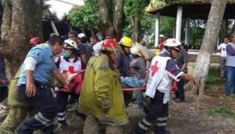 Colapsa estructura de iglesia en Tapachula; hay un muerto