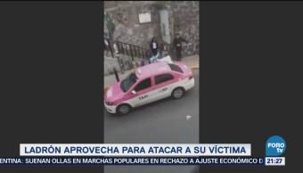 Taxista somete a presunto ladrón y termina apuñalado