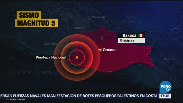 Tiembla hoy en Oaxaca, sismo de 5.0 grados de magnitud Servicio Sismológico Nacional (SSN), Pinotepa Nacional, Oaxaca