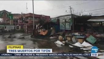 Tifón Mangkhut Tres Muertos Filipinas